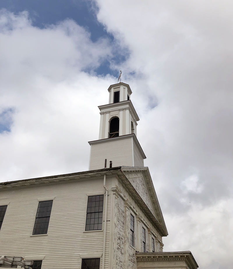 church in new bedford, steeple replacement