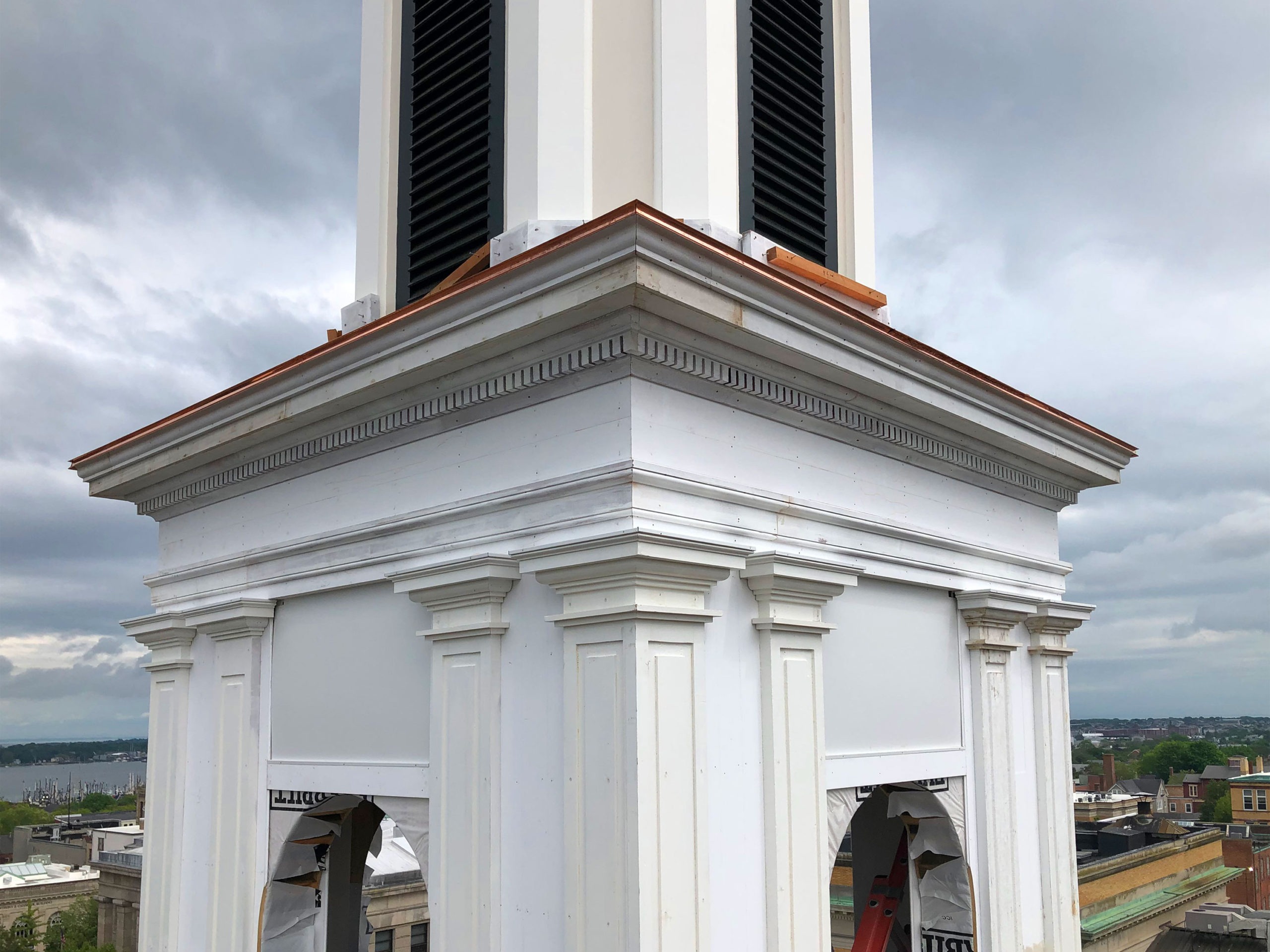 Steeple Restoration church in New Bedford