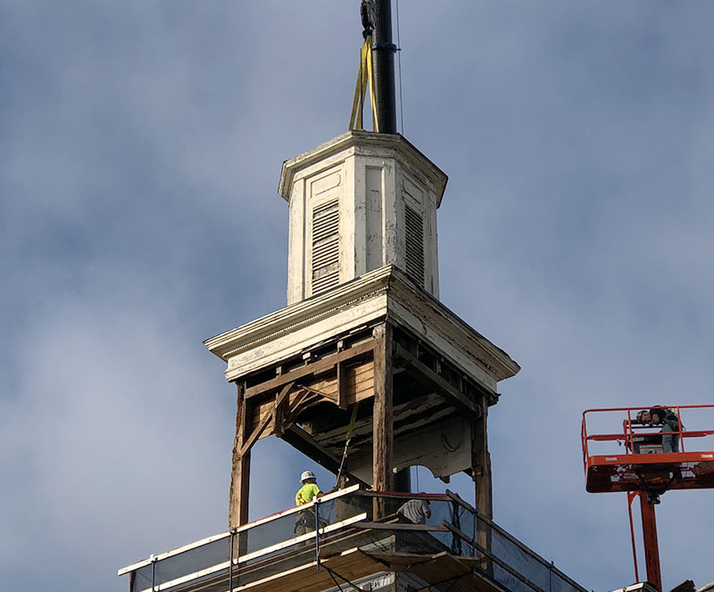historical steeple restoration feed